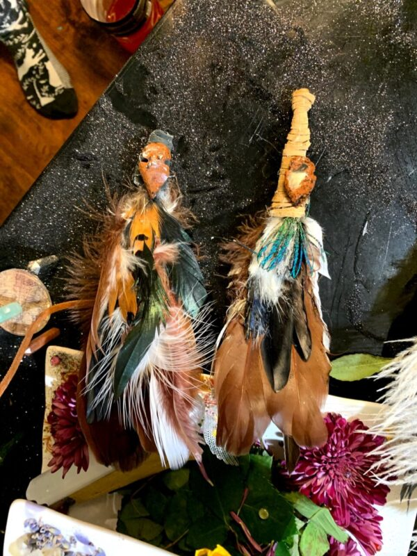 Made in Nevada Brown Pheasant Smudging Feather #2