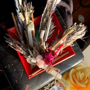 Made in Nevada Sage Bundle With Smudging Feather and Selenite wands