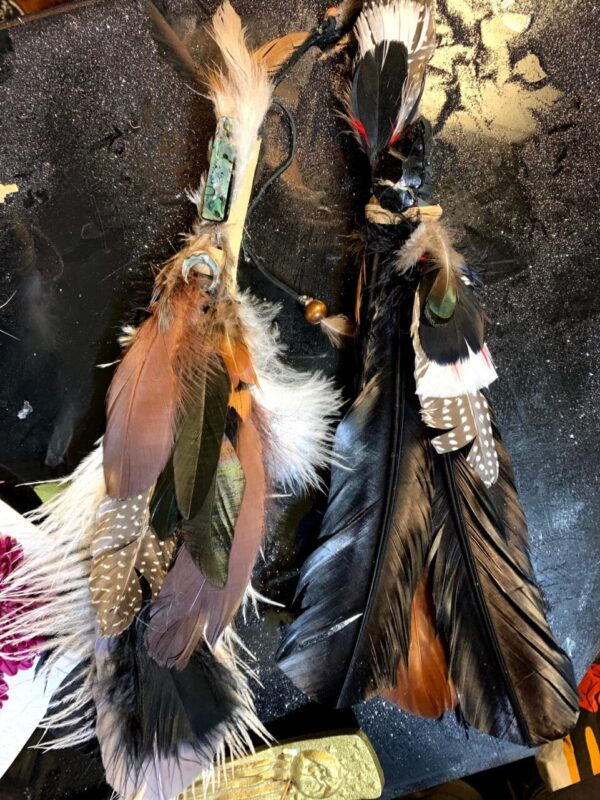 Made in Nevada White and Raven Theme Smudging Feathers