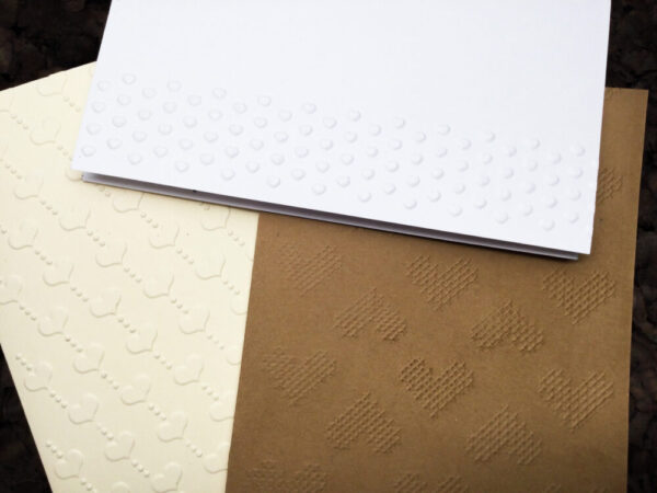 Made in Nevada Embossed hearts note cards
