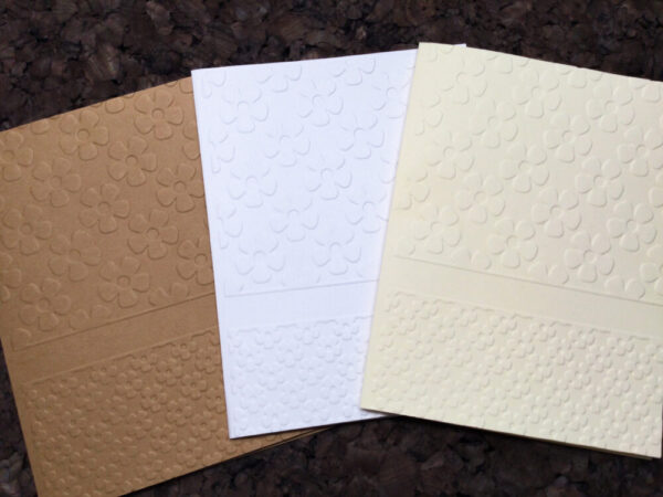 Made in Nevada Small Flowers Embossed Note Cards
