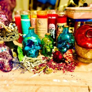 Made in Nevada Mini Herbal Smudge Kits & Skull Jar