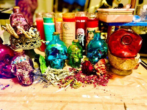 Made in Nevada Mini Herbal Smudge Kits & Skull Jar