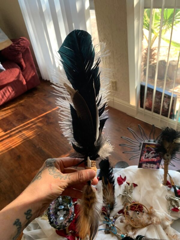 Made in Nevada Raven Inspired Smudging Feather