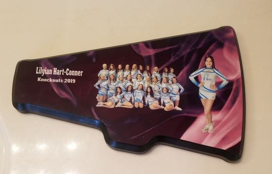 Made in Nevada Personalized Cheerleader Plaque