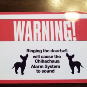 Made in Nevada Personalized Warning Dog Alarm System Sign