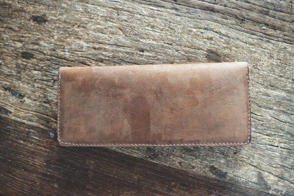 Made in Nevada Suede x English Harvest Leather Clutch Wallet