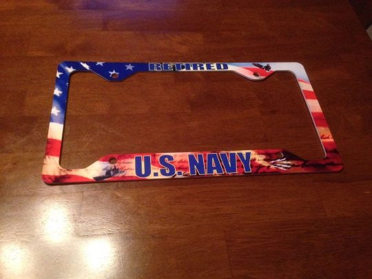 Made in Nevada American Flag Customized License Plate Frame