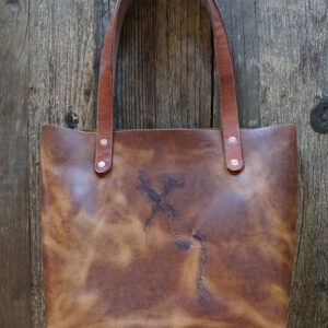 Branded Leather Wild Tote