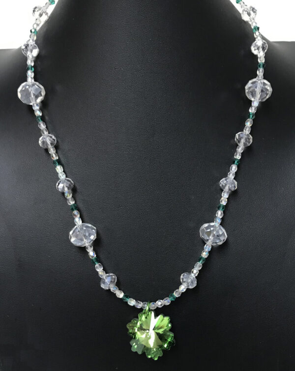 Made in Nevada Swarovski Crystal Pendant with Crystal Chain Necklace