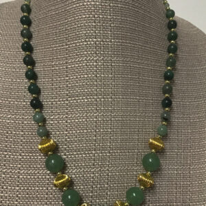 Made in Nevada Jade and Gold Necklace