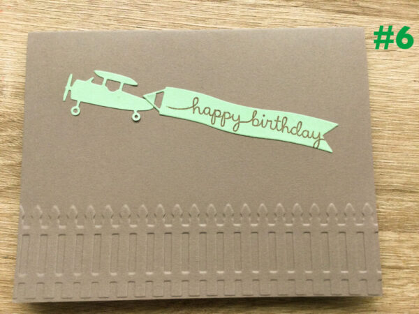 Made in Nevada Airplane Birthday card