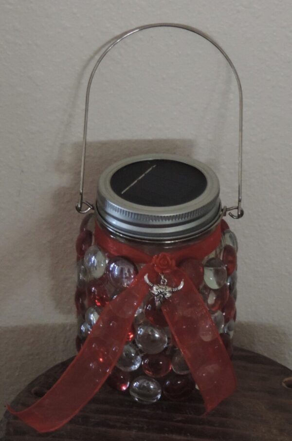 Made in Nevada Solar Lantern ~Red Cowgirl