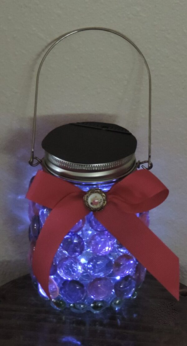 Made in Nevada Solar Lantern ~ A Different Pink & Green