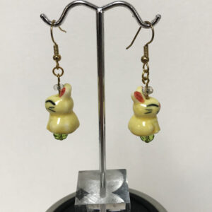 Made in Nevada Ceramic Easter Bunny Earrings