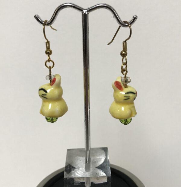 Made in Nevada Ceramic Easter Bunny Earrings