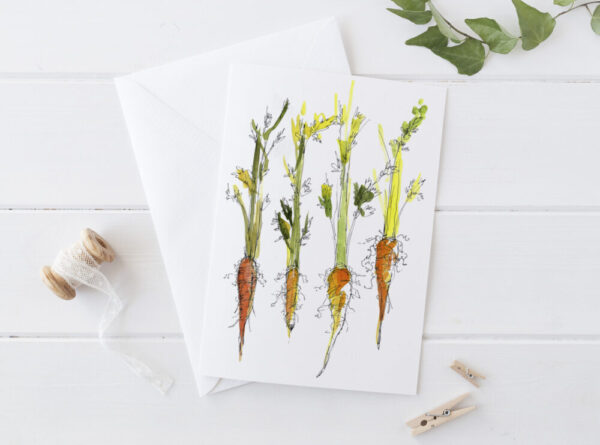 Made in Nevada Carrots Blank Greeting Card Vegetable Garden