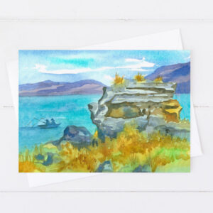 Made in Nevada Nevada Pyramid Lake Fishing Blank Greeting Card