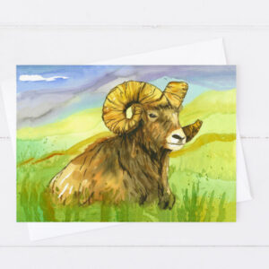 Made in Nevada Big Horn Sheep Blank Greeting Card
