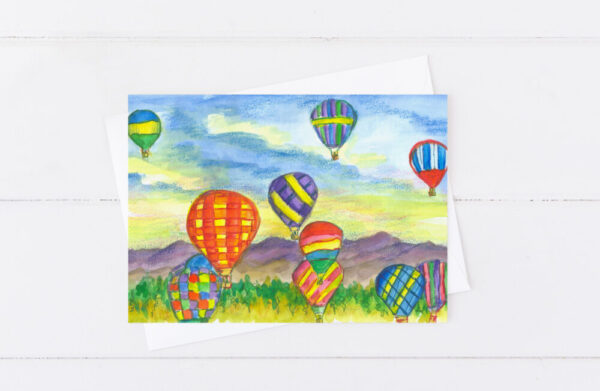 Made in Nevada Reno Balloon Race Greeting Card