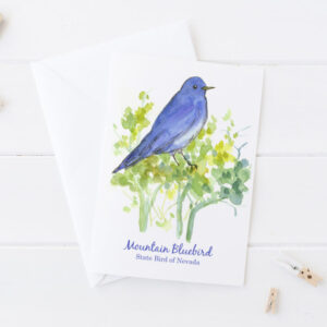 Made in Nevada Mountain Bluebird State Bird Of Nevada Blank Greeting Card