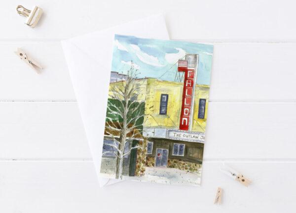 Made in Nevada Fallon Theatre Greeting Card Nevada Historic Building