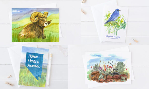 Made in Nevada Nevada State Symbols Greeting Card Set