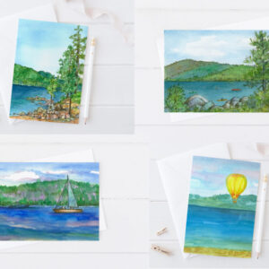 Made in Nevada Lake Tahoe Nevada Summer Boating Blank Notecard Set