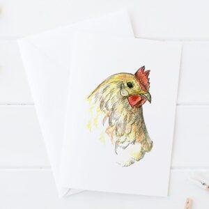 Made in Nevada Chicken Hen Blank Greeting Card