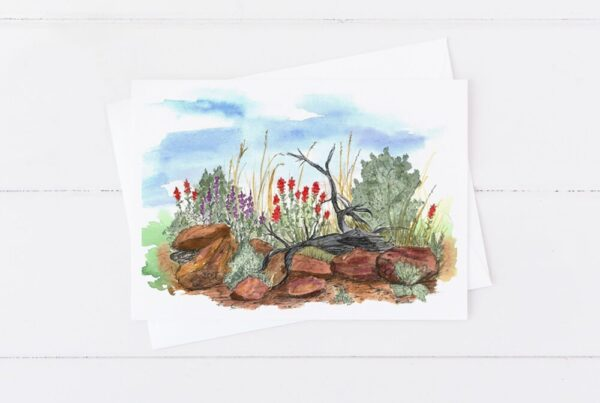 Made in Nevada Desert Wildflowers Blank Greeting Card