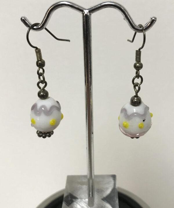 Made in Nevada Ceramic Easter Egg Earrings