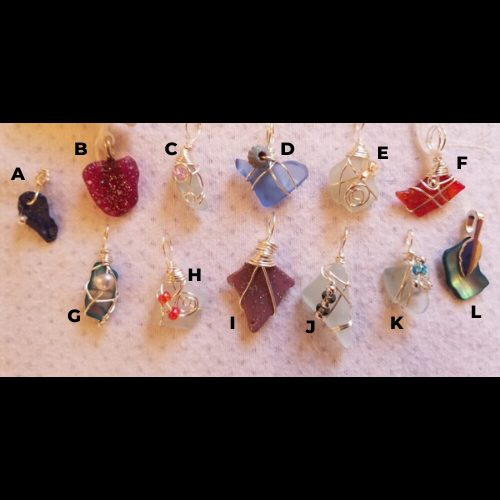 Made in Nevada Small Glass Pendants
