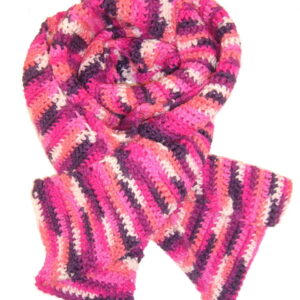 Made in Nevada Berry Cute Hand-Crocheted Scarf – Spring-Summer Collection