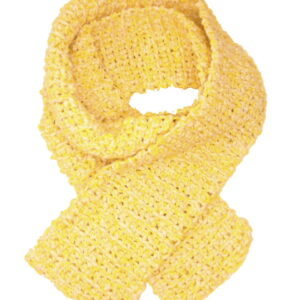 Made in Nevada Buttered Popcorn Hand-Crocheted Scarf – Cool Twisted Cotton Collection
