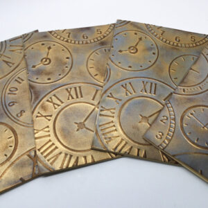 Made in Nevada Steampunk Clocks Embossed Cards