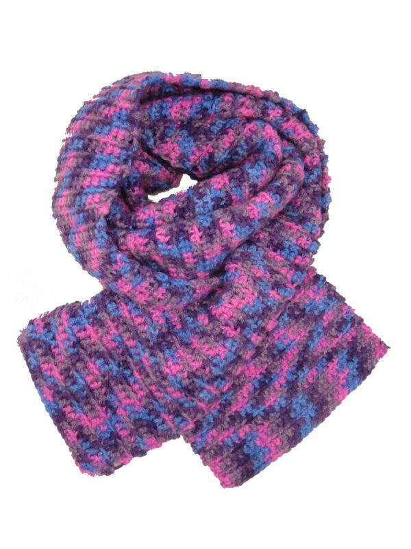 Made in Nevada Candy But-tons Hand-Crocheted Scarf – Spring-Summer Collection