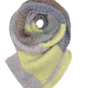 Made in Nevada Chartreuse Muse Hand-Crocheted Scarf – Supersoft Luxe and Fall-Winter Collections