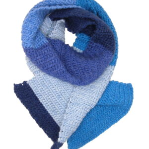 Made in Nevada Cobalt-ease Hand-Crocheted Scarf/Wrap