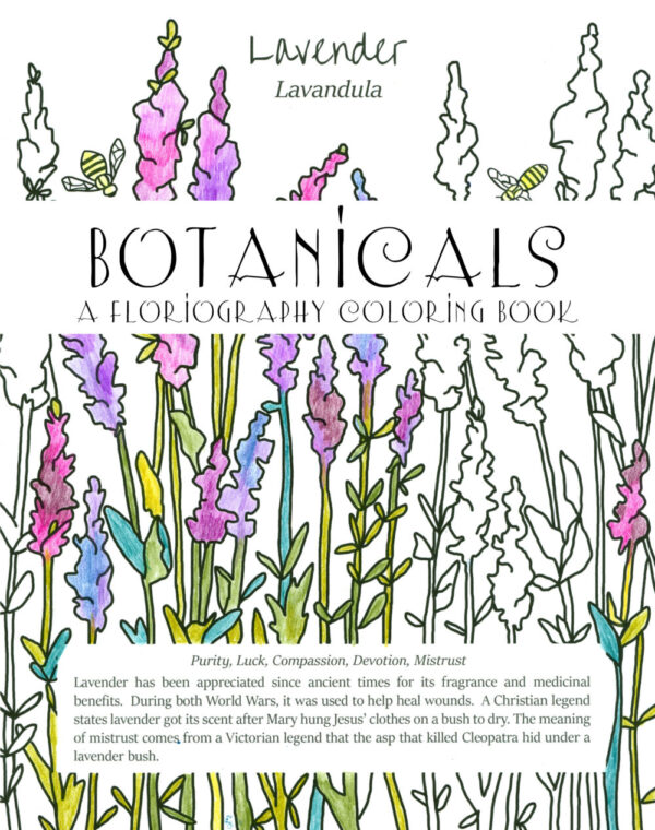 Made in Nevada Coloring Book Garden Plants Victorian Language Of Flowers