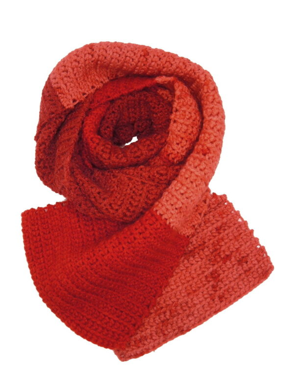 Made in Nevada Crayon Lei-On Hand-Crocheted Scarf – Ombre and Spring-Summer Collections