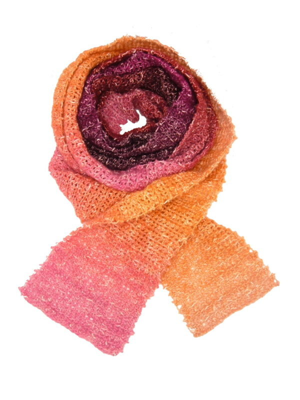 Made in Nevada Crème Brew-lei Hand-Crocheted Scarf – Cool Cotton Collection