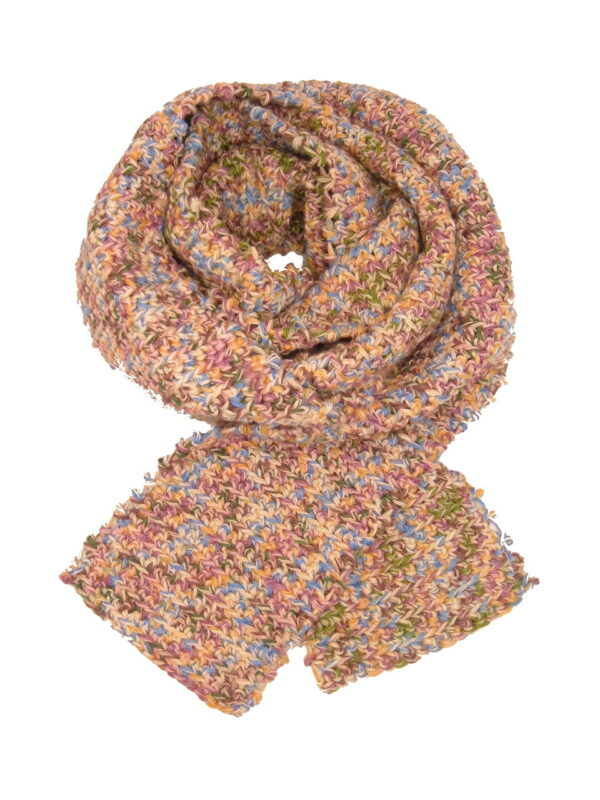 Made in Nevada Cut-up, Flora Hand-Crocheted Scarf – Cool Cotton Collection