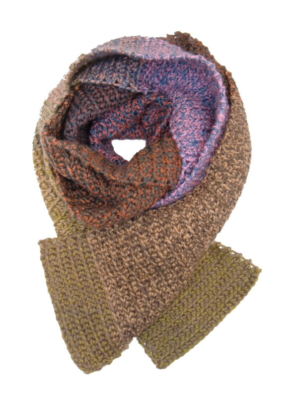 Made in Nevada Gourdy, Lore-dy Hand-Crocheted Scarf – Tweed and Fall-Winter Collections