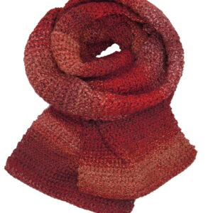 Made in Nevada King Me Red Hand-Crocheted Scarf/Wrap