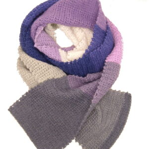 Made in Nevada Lilac Attack Hand-Crocheted Scarf – Spring-Summer Collection