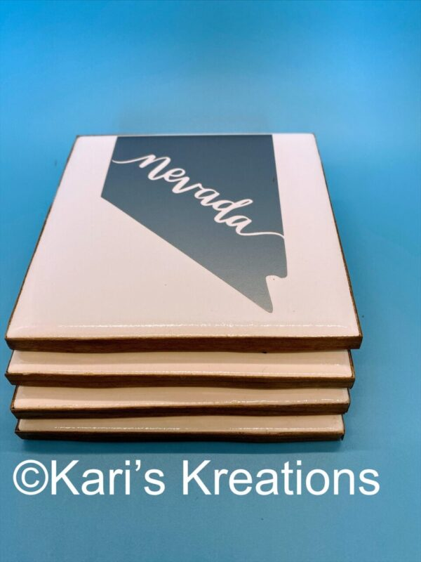 Made in Nevada Hand Crafted Ceramic Coasters