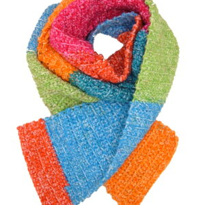 Made in Nevada Neon Shock Hand-Crocheted Scarf – Spring-Summer Collection