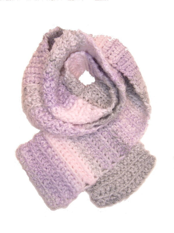 Made in Nevada Parfait! Hand-Crocheted Scarf