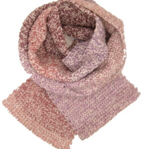 Made in Nevada Pink Rows Hand-Crocheted Scarf – Tweed Collection