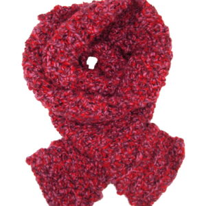 Made in Nevada Saucy Cranberry Hand-Crocheted Scarf – Fall-Winter Collection